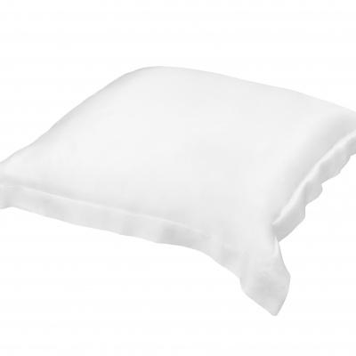 Taie d'oreiller Silkine, rectangulaire 100% soie – Couleur Blanche,