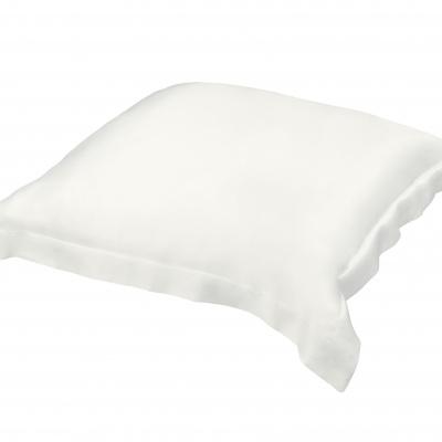 Taie d'oreiller Silkine rectangulaire 100% pure soie naturelle – Couleur Blanche,