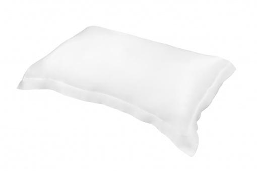 Taie d'oreiller Silkine rectangulaire 100% soie – Couleur Blanche,