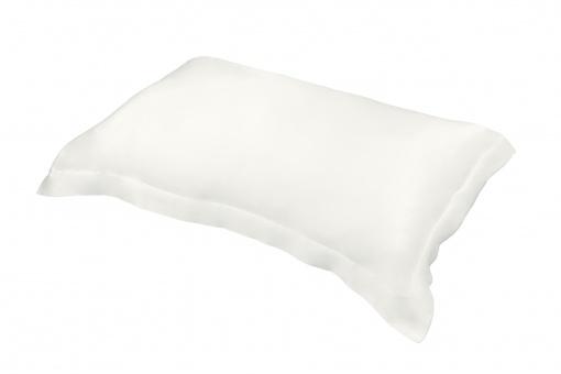 Taie d'oreiller pure soie naturelle rectangulaire 100% soie – Couleur Blanche